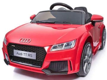 Ride on Car 12v Electric Audi TT RS Official Licensed Model in Red with Parental Control