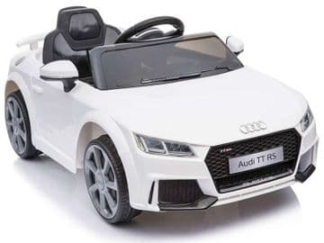 Ride on Car 12v Electric Audi TT RS Official Licensed Model in White with Parental Control
