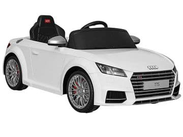 Ride on Car 12v Electric Audi TTS Official Licensed Model in White with Parental Control