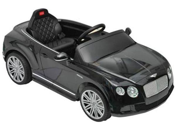Ride on Car 12v Electric Bentley GT Official Licensed Model in Black with Parental Control
