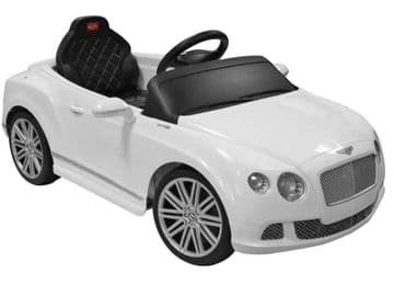 Ride on Car 12v Electric Bentley GT Official Licensed Model in White with Parental Control