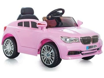 Ride on Car 12v Electric BMW X5 Style Sports SUV Pink Colour with Parental Radio Control