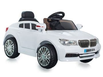 Ride on Car 12v Electric BMW X5 Style Sports SUV White Colour with Parental Radio Control