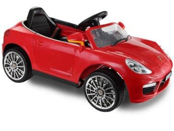 Ride on Car 12v Electric Cayenne Style Sports Saloon Red Colour with Parental Radio Control
