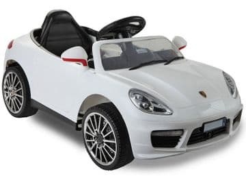 Ride on Car 12v Electric Cayenne Style Sports Saloon White Colour With Parental Radio Control