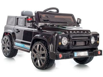 Ride on Car 12v Electric Defender Style SUV with Parental Radio Control Black