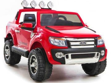 Ride on Car 12v Electric Ford Ranger SUV Official Model Red with Parental Control
