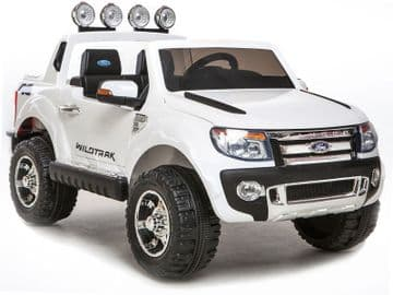 Ride on Car 12v Electric Ford Ranger SUV Official Model White with Parental Control