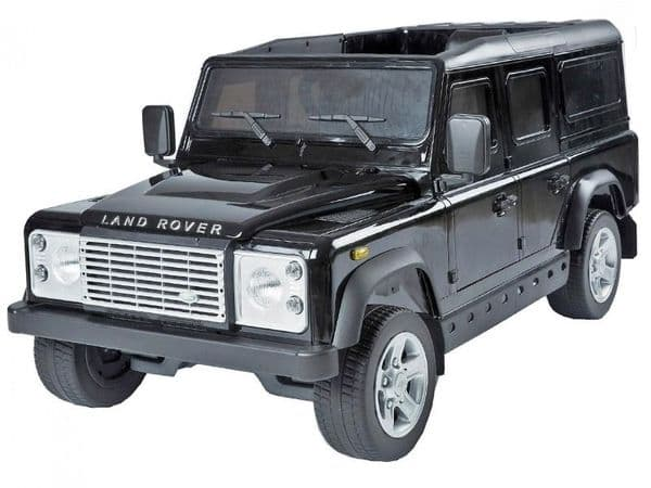 Ride on Car 12v Electric Land Rover Defender with Parental Radio Control Black