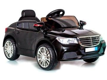 Ride on Car 12v Electric Merc C Class Style Saloon Black Colour with Parental Radio Control