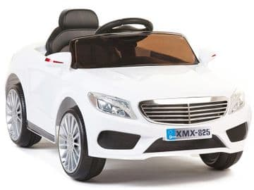 Ride on Car 12v Electric Merc E Class Style Saloon White Colour with Parental Remote Control