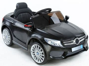 Ride on Car 12v Electric Merc SL Style Roadster Black with Parental Radio Control