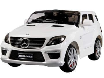 Ride on Car 12v Electric Mercedes Benz ML63 SUV Jeep Fully Licensed Model White