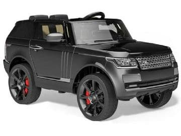 Ride on Car 12v Electric Range Rover Sport Style with Parental Radio Control MATT Black