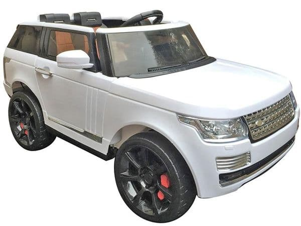 Ride on Car 12v Electric Range Rover Sport Style with Parental Radio Control White