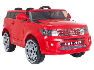 Ride on Car 12v Electric Range Sport Style Jeep with Parental Radio Control Red