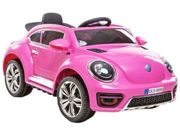 Ride on Car 12v Electric VW Beetle Style with Parental Radio Control Pink