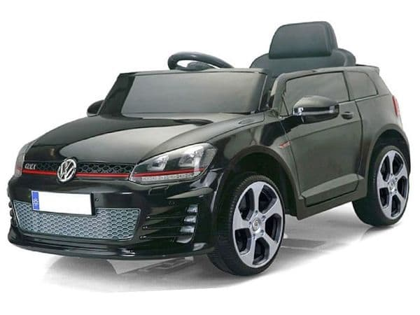 Ride on Car 12v Electric VW Golf GTi Official Licensed Model in Black with Parental Control