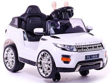 Ride on Car 6v Electric Evoque Style Suv White with Parental Radio Control
