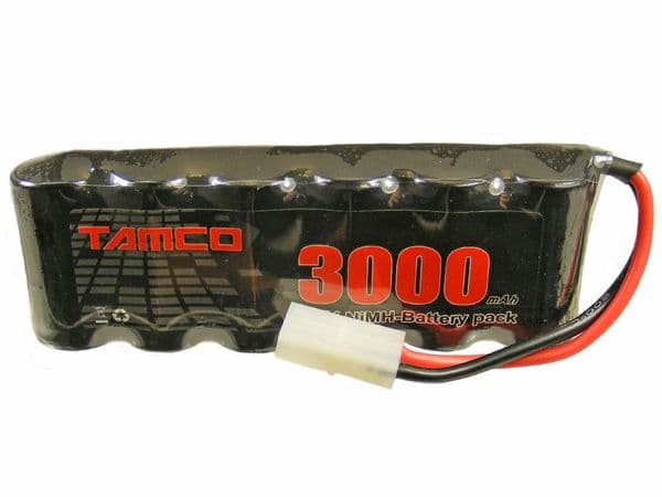Tamco 7.2 Volt 3000mAh NiMH 6 Cell Re-Chargeable Battery Pack Tamiya Connector