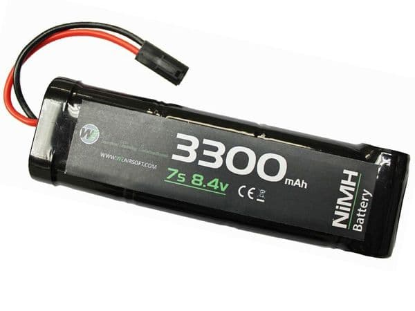 WE Airsoft 8.4V Nimh 3300mAH 3x2+1 Block Battery Pack Small Tamiya