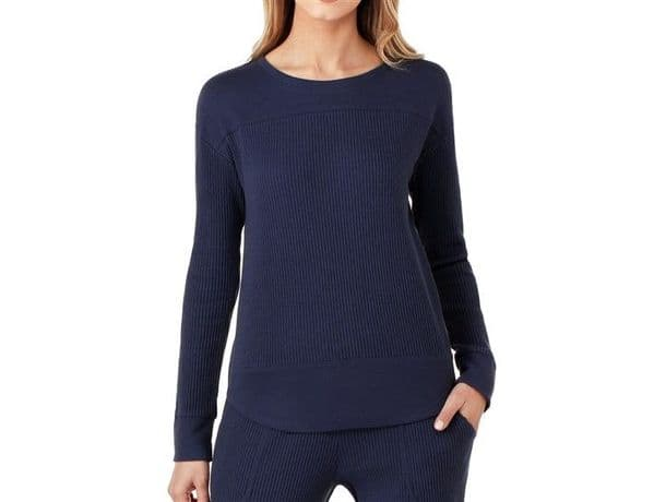 DKNY Neo Soho Long Sleeve Top - Ink