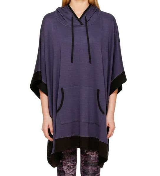 DKNY Resort Lounging Sleep Poncho - Purple