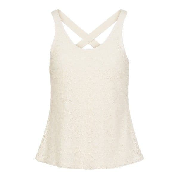 Lingadore Calm Lace Cross Back Top - Ivory