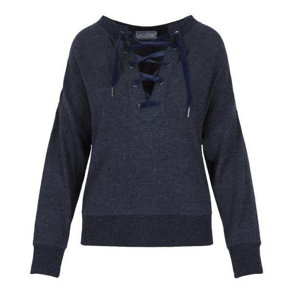 LingaDore Mood Indigo Wooly Sweater - Dark Blue