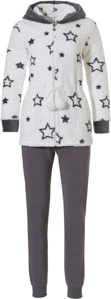 Rebelle Star Home Suit - White/Grey