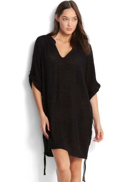 Seafolly Textured Gauze Cover Up - Black