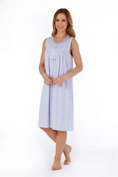 Slenderella Sleeveless Floral Jersey Nightdress - ND55101