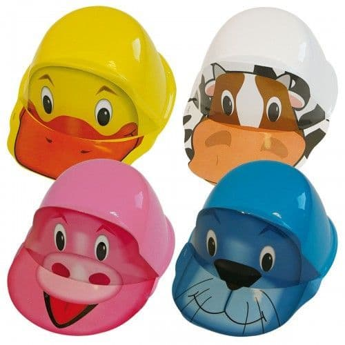 1 of several assorted design Plastic Animal Hats Zoo Farm Book Week Fancy Dress