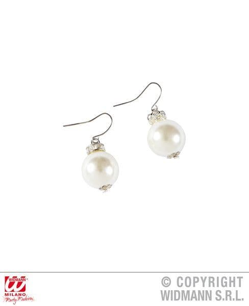 20s Pearl Earrings Gangster Mob 20s 30s