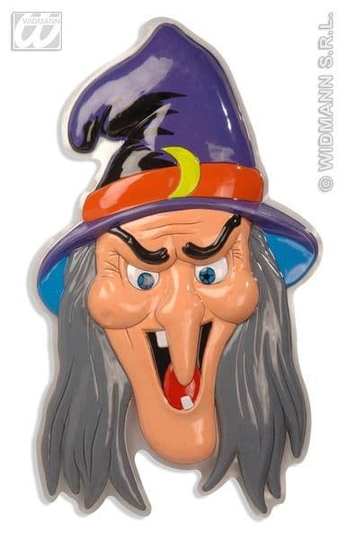 3D Witch Heads 51X91cm Decoration Halloween Wicked Villian Party