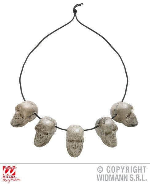 5 Skull Necklace Pirate Halloween Skeleton Head