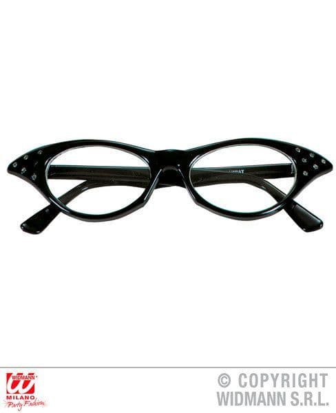 50s Glasses With Strass - Glasses Specs Fancy Dress