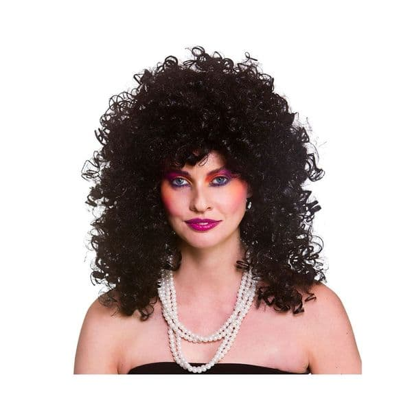 80's Wild Curl Wig Accessory Fancy Dress