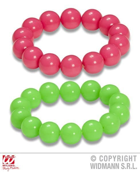 80s 90s Neon Bead Bracelets Set Of 2 Pop 80s New Romantic
