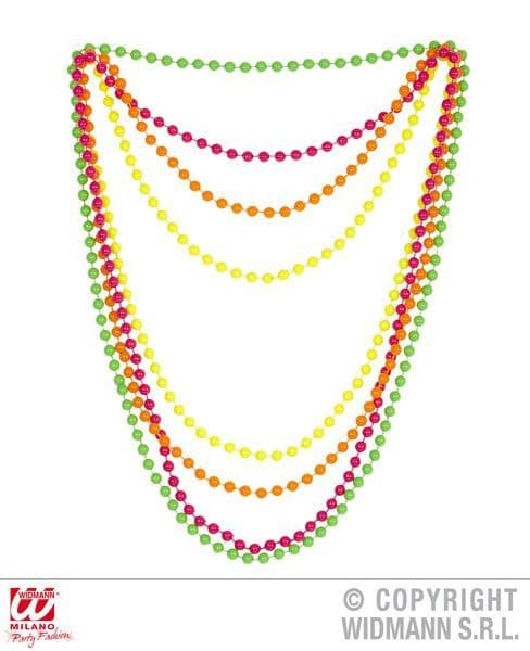 80s 90s Neon Beaded Necklaces Set Of 4 Pop 80s New Romantic