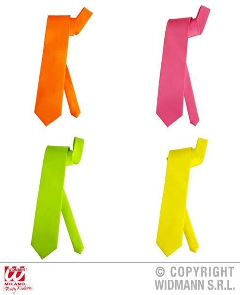 80s 90s Neon Pop Necktie Tie 80s New Romantic Fancy Dress