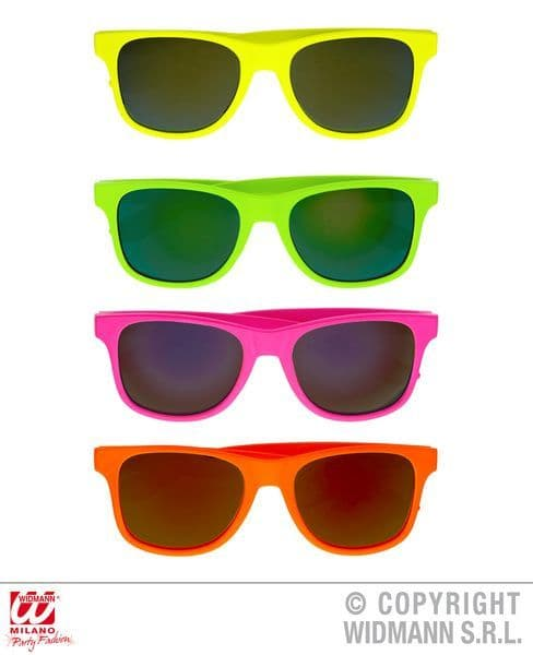 80s Glasses 4 Colours Pop 80s New Romantic Fancy Dress