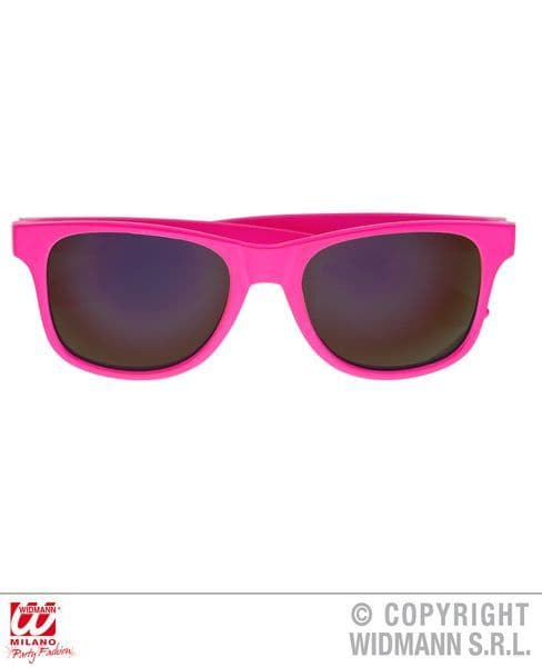 80s Pink Glasses With Lenses Pop 80s New Romantic Fancy Dress