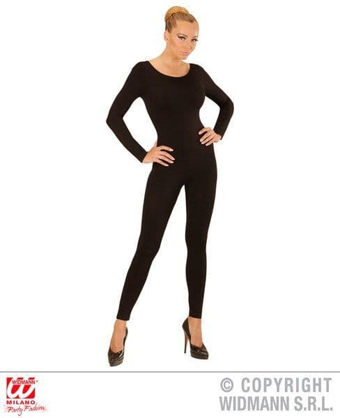 Adults Black Bodysuit Leotard Bodysuit Fancy Dress