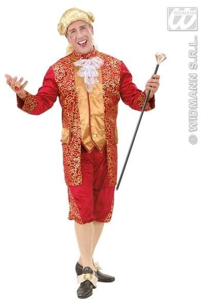 Adults Bordeaux Marquis Costume Fancy Dress