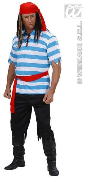 Adults Caribbean Pirate - Striped Costume Pirate Fancy Dress