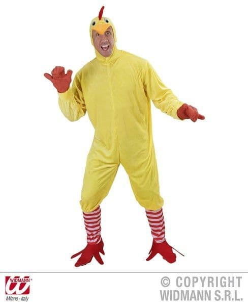 Adults Chicken Costume Animal Fancy Dress