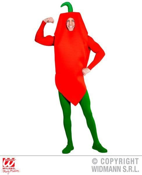 Adults Chilli Pepper Costume Adults Fancy Dress