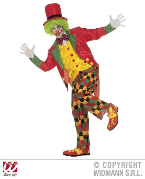 Adults Clown Costume Circus Fancy Dress