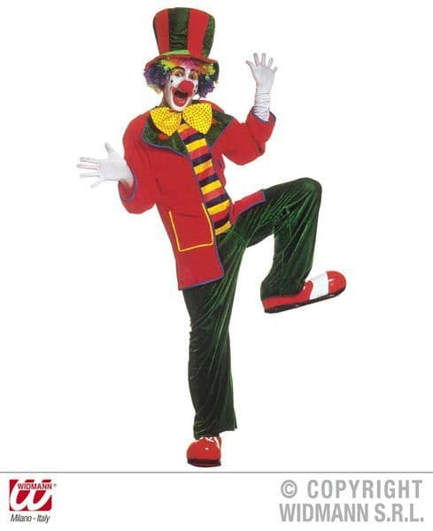 Adults Clown Costume Velvet Circus Fancy Dress